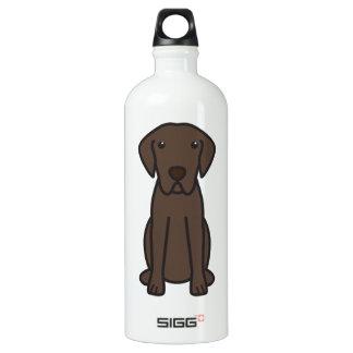 Chesapeake Bay Retriever Dog Cartoon Water Bottle