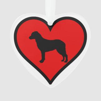 Chesapeake Bay Retriever Heart Love Dogs Ornament