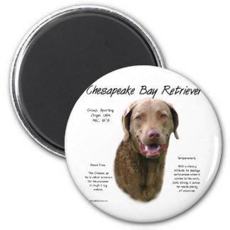 Chesapeake Bay Retriever History Design 2 Inch Round Magnet