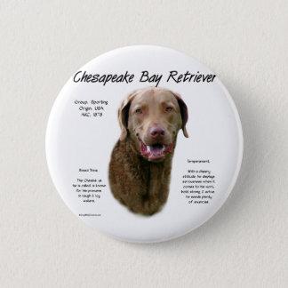 Chesapeake Bay Retriever History Design Button