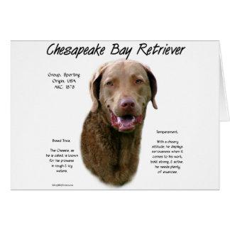 Chesapeake Bay Retriever History Design Card