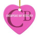 Chesapeake Bay Retriever Monogram Ceramic Ornament