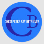 Chesapeake Bay Retriever Monogram Classic Round Sticker