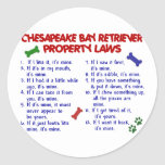 CHESAPEAKE BAY RETRIEVER Property Laws 2 Stickers