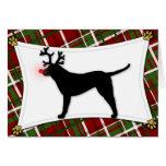 Chesapeake Bay Retriever Reindeer Christmas Card