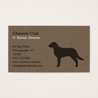 Chesapeake Bay Retriever Silhouette Business Card