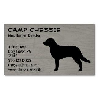Chesapeake Bay Retriever Silhouette Business Card Magnet