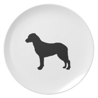 Chesapeake Bay Retriever Silhouette Love Dogs Dinner Plate