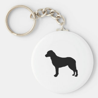Chesapeake Bay Retriever Silhouette Love Dogs Keychain