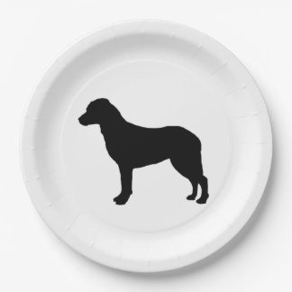 Chesapeake Bay Retriever Silhouette Love Dogs Paper Plate