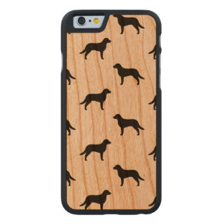 Chesapeake Bay Retriever Silhouettes Pattern Carved Cherry iPhone 6 Case