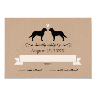 Chesapeake Bay Retriever Silhouettes Wedding RSVP Card