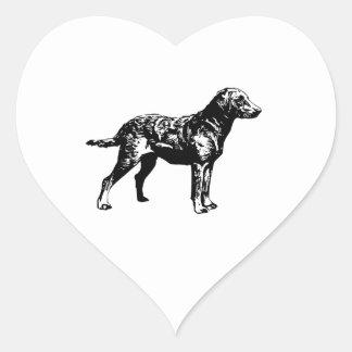 Chesapeake Bay Retriever Heart Sticker