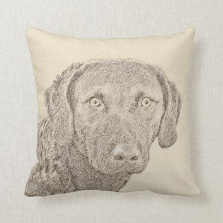 Chesapeake Bay Retriever Throw Pillow