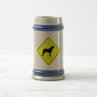 Chesapeake Bay Retriever Warning Sign Love Dogs Beer Stein