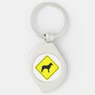 Chesapeake Bay Retriever Warning Sign Love Dogs Keychain