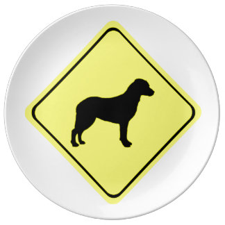Chesapeake Bay Retriever Warning Sign Love Dogs Plate