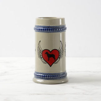 Chesapeake Bay Retriever Winged Heart Love Dogs Beer Stein