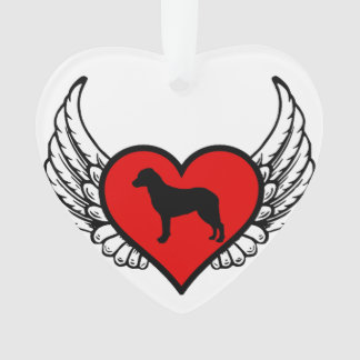 Chesapeake Bay Retriever Winged Heart Love Dogs Ornament
