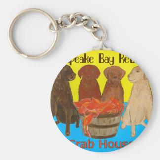 Chesapeake Bay Retriver Crabhouse Keychain