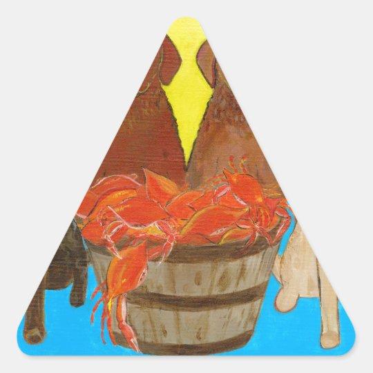 Chesapeake Bay Retriver Crabhouse Triangle Sticker
