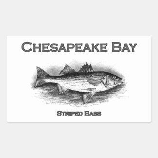 Chesapeake Bay Striped Bass Rectangular Sticker