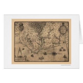 Chesapeake Bay Virginia Map 1590 Card