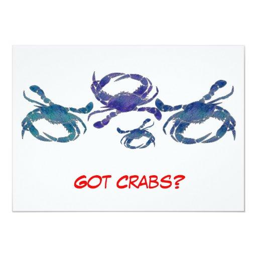 Chesapeake Blue Crabs Custom Invitations