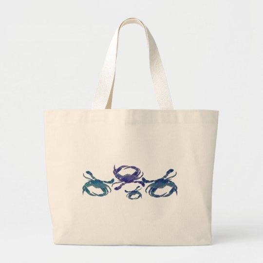 Chesapeake Blue Crabs Large Tote Bag