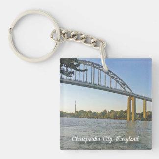 Chesapeake City, Maryland Keychain Acrylic Keychain