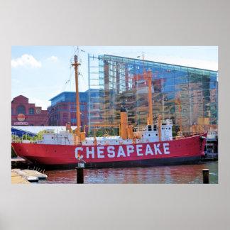 Chesapeake del buque faro y acuario nacional impresiones