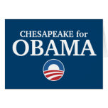 CHESAPEAKE for Obama custom your city personalized Cards