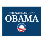 CHESAPEAKE for Obama custom your city personalized Post Cards