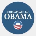 CHESAPEAKE for Obama custom your city personalized Round Sticker