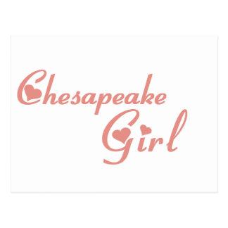 Chesapeake Girl tee shirts Postcard