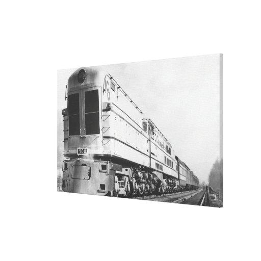 "Chesapeake & Ohio Railroad ""500"" Locomotive Stretched Canvas Print"