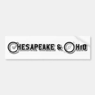 Chesapeake & Ohio Railroad Logo ca.1897 Bumper Sticker