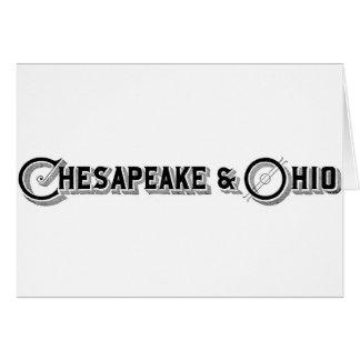 Chesapeake & Ohio Railroad Logo ca.1897 Greeting Cards