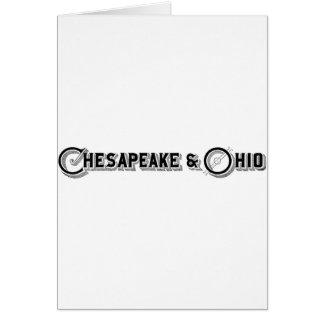 Chesapeake & Ohio Railroad Logo ca.1897 Card