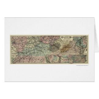 Chesapeake & Ohio Railroad Map 1873 Greeting Cards