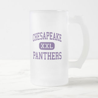 Chesapeake - Panthers - High - Chesapeake Ohio 16 Oz Frosted Glass Beer Mug