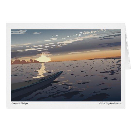 Chesapeake Twilight Card
