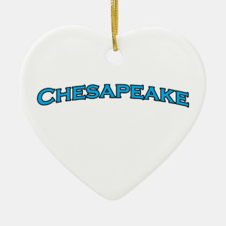 Chesapeake Virginia Arched Text Logo Ceramic Ornament