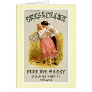 Chesapeake Whisky Vintage Drink Ad Art Card