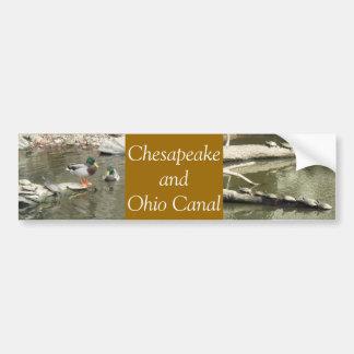 Chesapeake y canal de Ohio Etiqueta De Parachoque