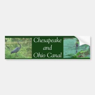 Chesapeake y canal de Ohio Pegatina De Parachoque