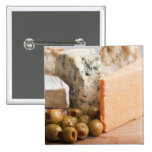 chese and olives 2 inch square button