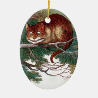 Cheshire Cat 2 Ceramic Ornament