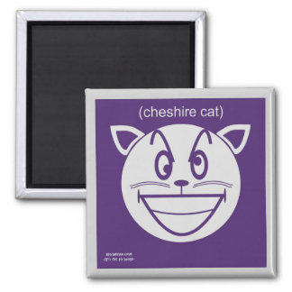 Cheshire Cat 2 Inch Square Magnet
