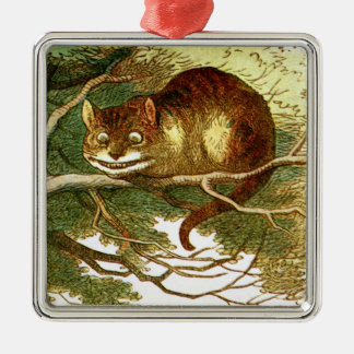 Cheshire Cat 2 Metal Ornament